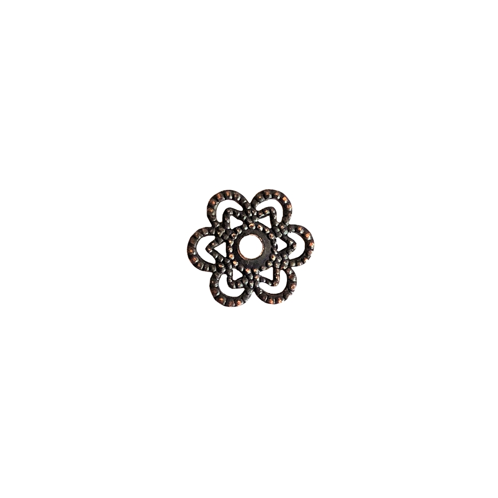 brass filigree, filigree flower, beading flower filigree, filigree, rusted iron brass, antique copper, beading filigree, plated brass, old jewelry parts, brass stampings, brass filigree, 0723, beading flower, 12mm, US made, nickel free, bsueboutiques