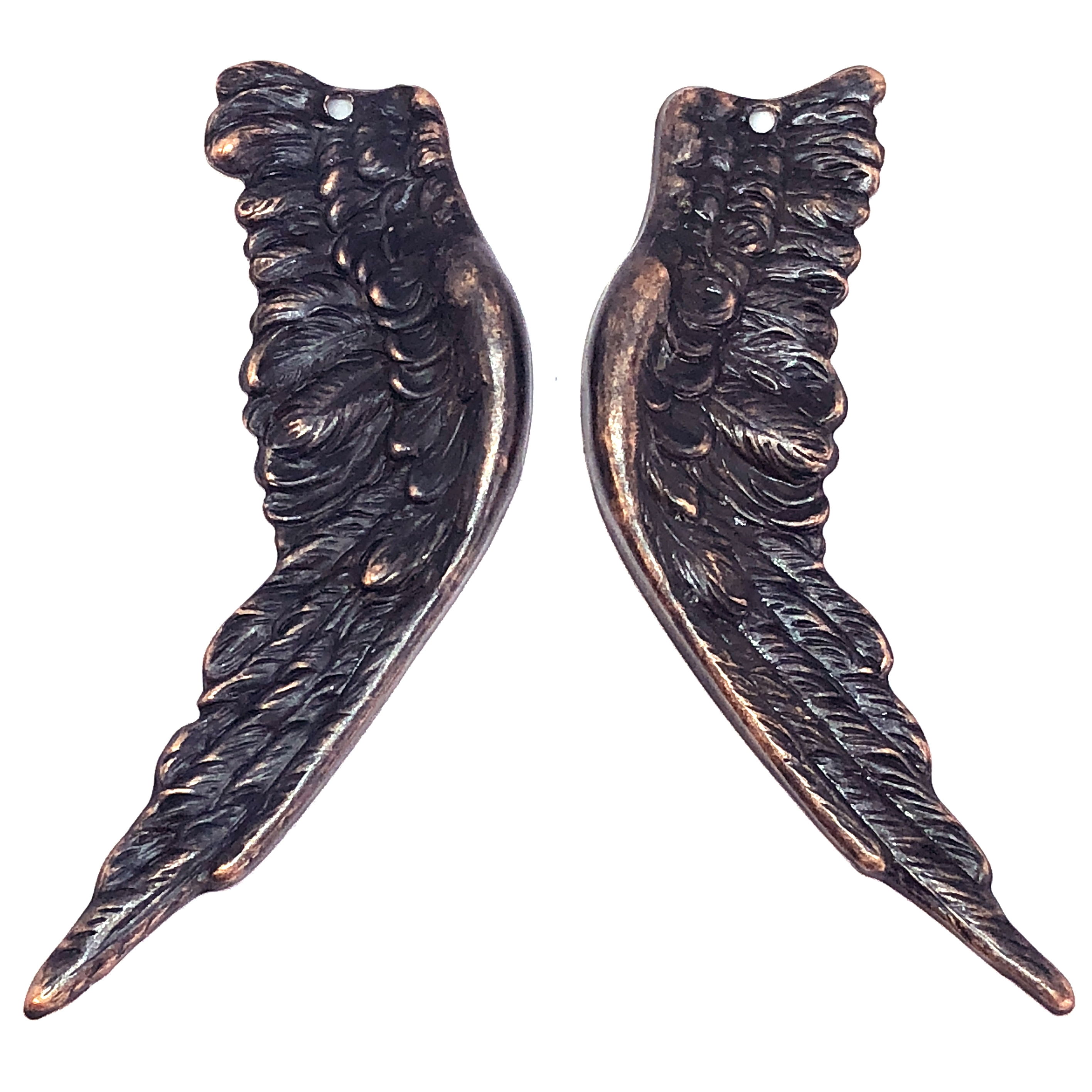 brass wings, bird wings, rusted iron, 08572, copper accents, copper, wings, vintage jewelry supplies, brass jewelry parts, jewelry making supplies, US made, nickel free, Bsue Boutiques