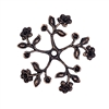 pinwheel, flower sprig, rusted iron, 08574, flowers, leaves, drilled, 34mm, stone sets, copper accents, copper, plated brass, Bsue Boutiques, jewelry supplies