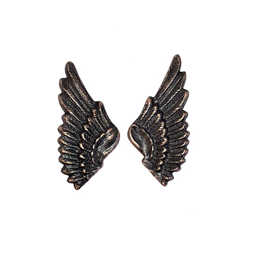 brass wings, bird wings,  rusted iron, 08604, vintage jewelry supplies, brass jewelry parts, jewelry making supplies, US made, nickel free, Bsue Boutiques, embellishments, wings