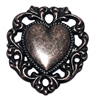brass hearts, heart base, 09599, lace edge heart, vintage jewelry supplies, jewelry making supplies, antique copper, rusted iron brass, heart pendants, heart charms, US made, nickel free jewelry supplies, bsueboutiques