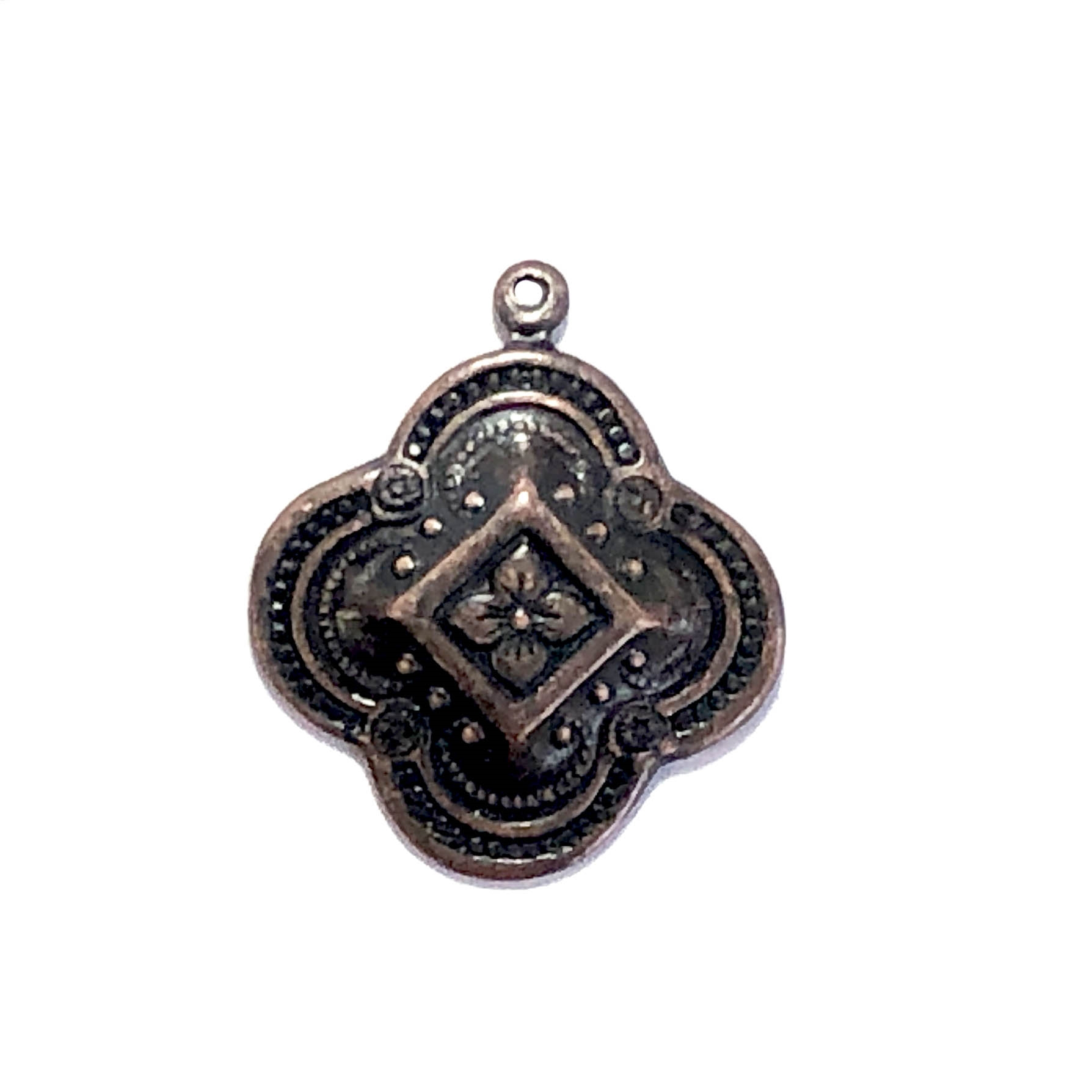 Brass Charm, Victorian Design, Drop, Ear Drops, Charm, Rusted Iron Brass, Vintage Style Drops, Jewelry Findings, Nickel Free, Brass Stamping, Charm Accents, US Made, 15mm, Vintage, Victorian, Style, B'sue Boutiques, Pendant, 09600