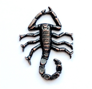 brass spider, scorpions, jewelry making, rusted iron brass, insect, 33x24mm, 09989, brass stamping, B'sue Boutiques, nickel free, jewelry supplies, us made, jewelry findings, vintage jewelry supplies, creepy spiders, spider jewelry, scorpion jewelry,