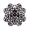 filigree, rusted iron brass, dapt filigree, brass filigree, 49mm, brass stamping, iron, iron brass, beading filigree, dapt, brass, us made, nickel free, b'sue boutiques, vintage supplies, jewelry supplies, jewelry making, jewelry filigree jewelry, 09998