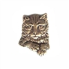 Buster Kitty, Cat Stamping, Brass Ox, Brass Stamping, 30 x 22mm, Cat, Kitty, Jewelry Finding, Nickel Free, USA Made, B'sue Boutiques, Brass Base Plated, 01154