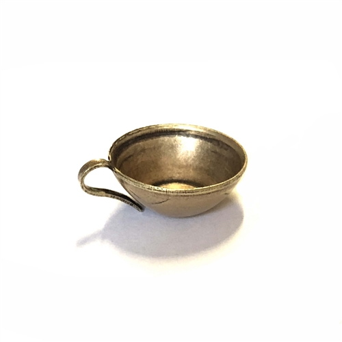 brass cup stamping, mug, charm, 01217, embellishment, kitchen, tea cup, brass charm, brass ox, antique brass, black antiquing, cup charm, Bsue Boutiques, jewelry supplies, jewelry making, US made, nickel free jewelry supplies, vintage jewelry supplies