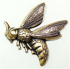 Brass Bees, Brass Insects, Brass Ox, Bees, Brass Stamping, US Made, Nickel Free, Insects, Jewelry Findings, Bug, 30 x 30mm, B'sue Boutiques, 01222, Vintage Supplies, Jewelry Supplies, Wings, Brass Ox Bees, Stamping Brass, Wasp,