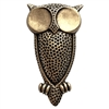 owl stamping, bird stamping, owl, brass ox, antique brass, steampunk, US-made, nickel-free, owl jewelry, 53x29mm, brass stamping, stamping, jewelry making, jewelry supplies, vintage supplies, B'sue Boutiques, jewelry findings, owl bird, 01323