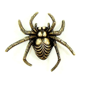 Brass Spiders, Brass Insects, Spider Stampings, Brass Stamping, Brass Ox, 34 x 36mm, Spider, Jewelry Findings, Made in USA, Nickel Free, B'sue Boutiques, Vintage, Insect. 01407