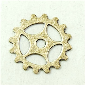 Brass Gears, Cog Wheels, Steampunk Art, Brass Stamping, Drilled, Brass Ox, Wheels, Steampunk, Gears, Cogs, 16mm, Us Made, Nickel Free, Jewelry Findings, Vintage Supplies, Jewelry Supplies, B'sue Boutiques, 01756