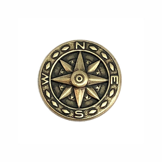 brass compass, medallion style, brass ox, antique brass, compass, steampunk art, steampunk, brass stamping, 25mm, star center, us made, nickel free, B'sue Boutiques, jewelry making, jewelry findings, vintage supplies, jewelry supplies, 02292