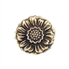 brass flowers, brass sunflower, brass flower pendants, jewelry making, jewelry supplies, antique brass, brass ox, 30mm, brass stampings, B'sue Boutiques, US made, nickel free,  02873