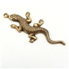 brass salamander, lizards, jewelry making, 03068, brass ox, antique brass, B'sue Boutiques, nickel free jewelry supplies, vintage jewelry supplies, lizard charms, US Made, nickel free