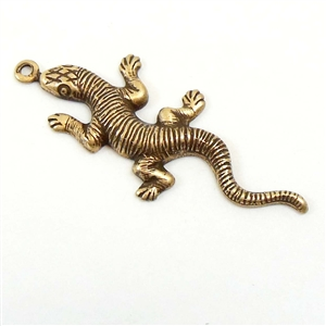 Brass Salamander, Lizards, Vintage Jewelry Supplies, Brass Stampings, Brass Ox, 35mm