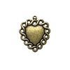 Brass Heart, Brass Ox, Pendant, Charm, Heart, Heart Charm, Paintable Brass Stamping, 26x23mm, Embellishment, US Made, Nickel Free, Jewelry Findings, Ear Drop, Earrings, B'sue Boutiques, 03131