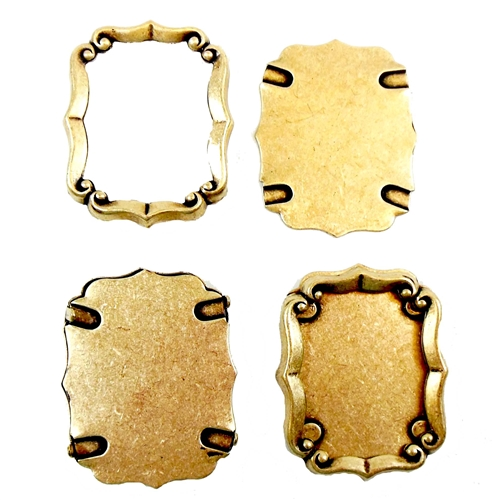 Backless Bezel, Antique Brass, 33 x 27