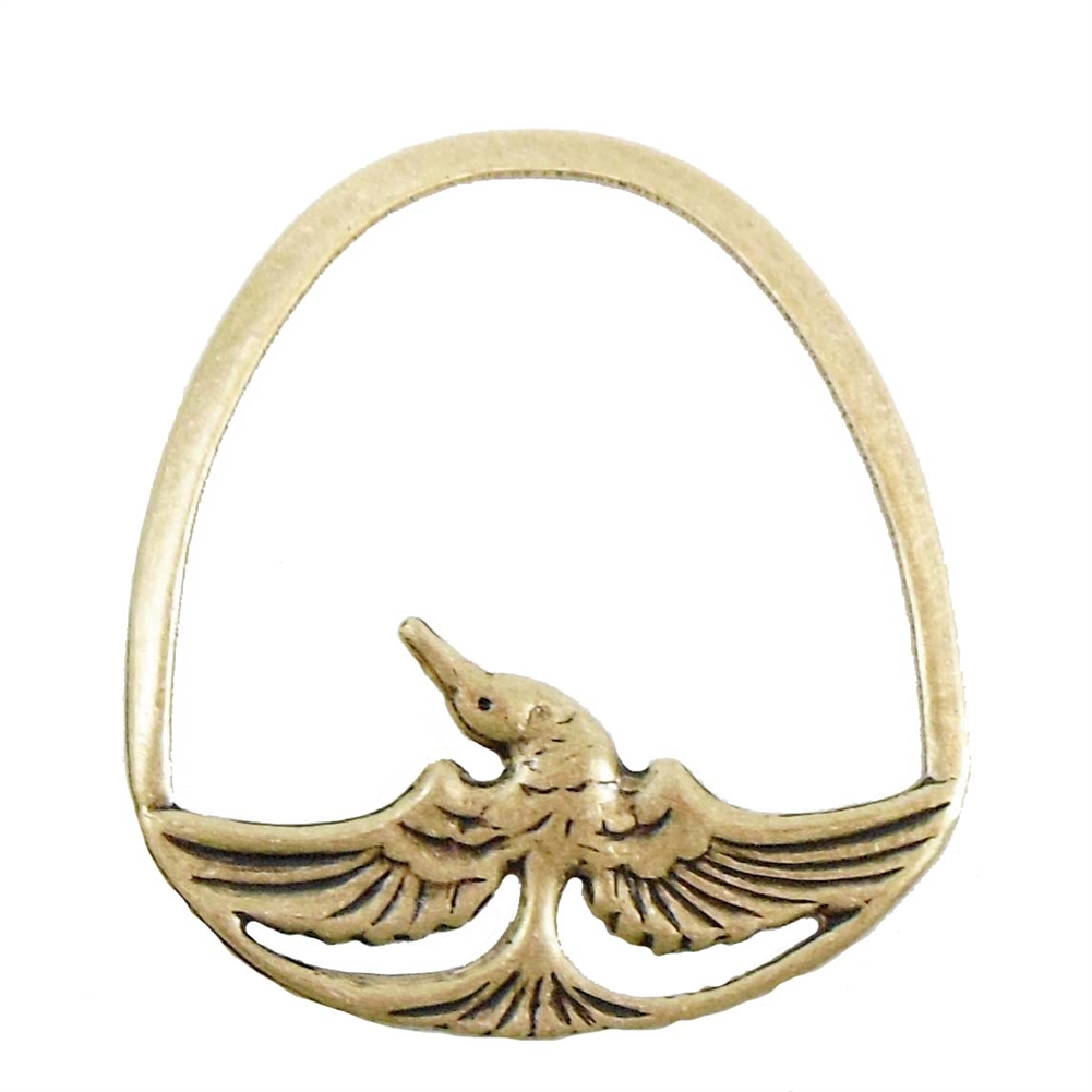 brass bird, bird pendant, antique brass, 45 x 41mm
