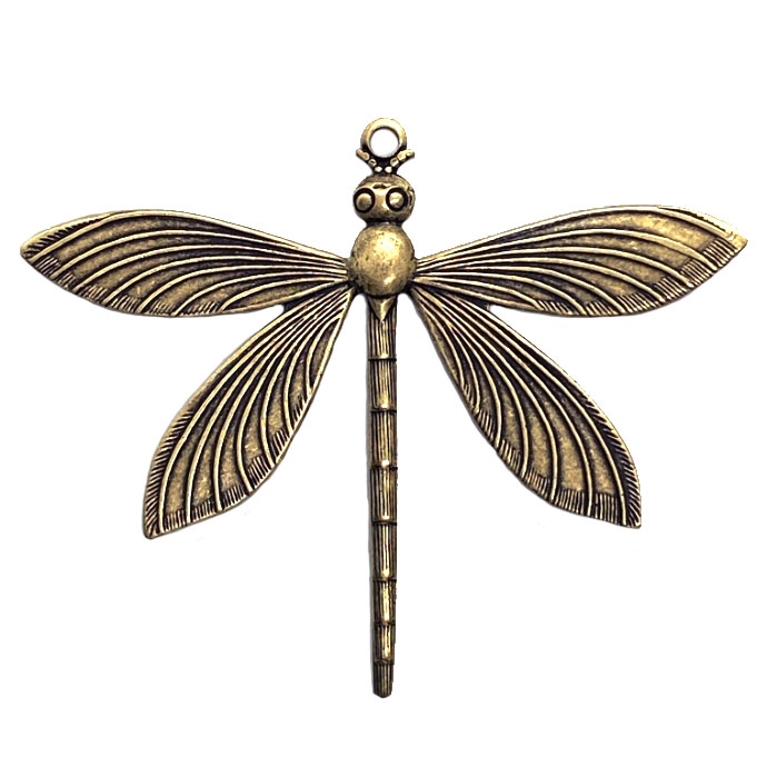 art deco dragonfly, brass ox, dragonfly, insects, dragonfly jewelry, jewelry making, vintage supplies, jewelry supplies, US made, nickel free, B'sue Boutiques, 52x64mm, dragonfly stamping, 04397