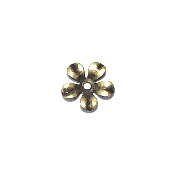 brass flower, bead cap, brass ox, 04491, antique brass, vintage jewelry supplies, jewelry making supplies, flower caps, antique black, drilled flower,