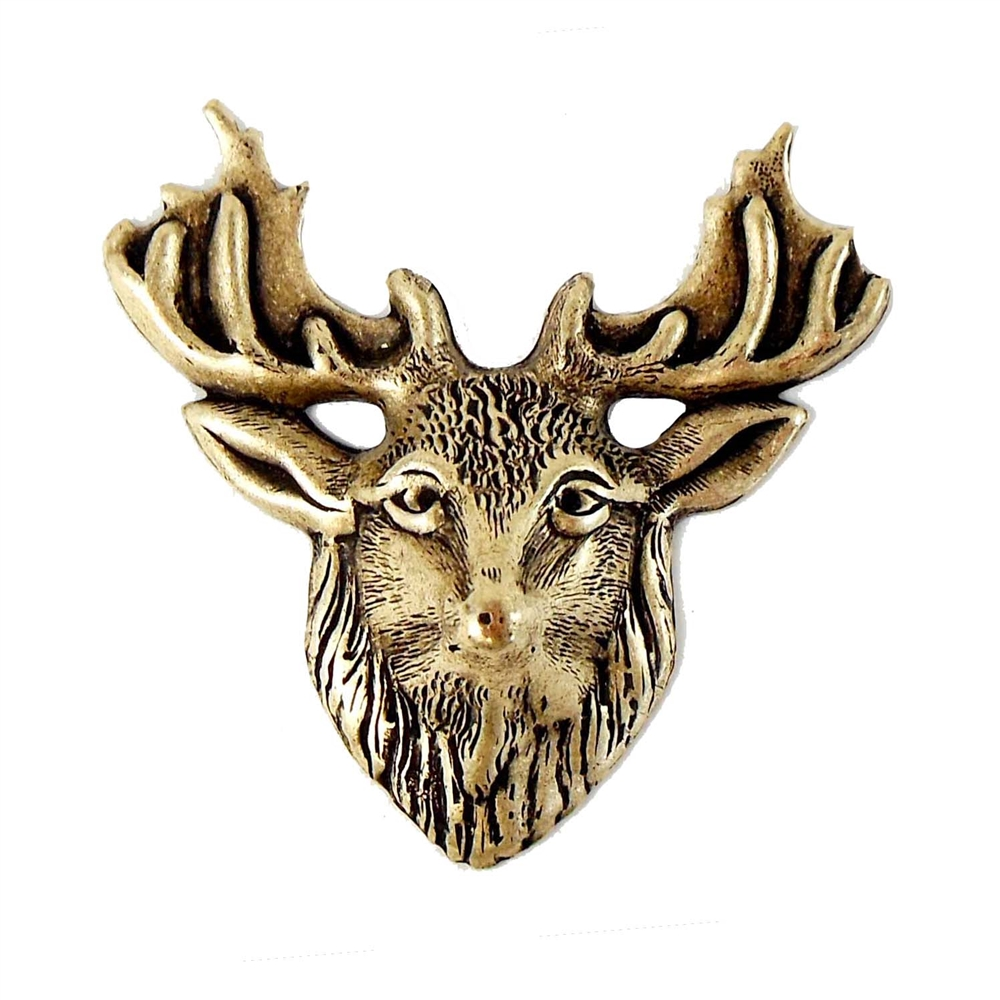 brass deer, deer stampings, jewelry supplies, brass ox, antique brass, 04657, vintage jewelry supplies, hunters jewelry, US made, nickel free, bsueboutiques