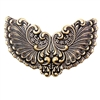 large victorian winged stamping, brass ox, antique brass, winged stamping, victorian, brass stamping, brass, wing, us made, nickel free, B'sue Boutiques, jewelry making, jewelry supplies, vintage supplies, 63x88mm, jewelry findings, 04675