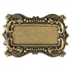 picture frame, frame, brass ox, leafy motif, brass stamping, motif, US made, victorian, brass, B'sue Boutiques, mount, antique brass, bezel, victorian style frame, nickel free, jewelry making, vintage supplies, jewelry supplies, jewelry findings, 04707