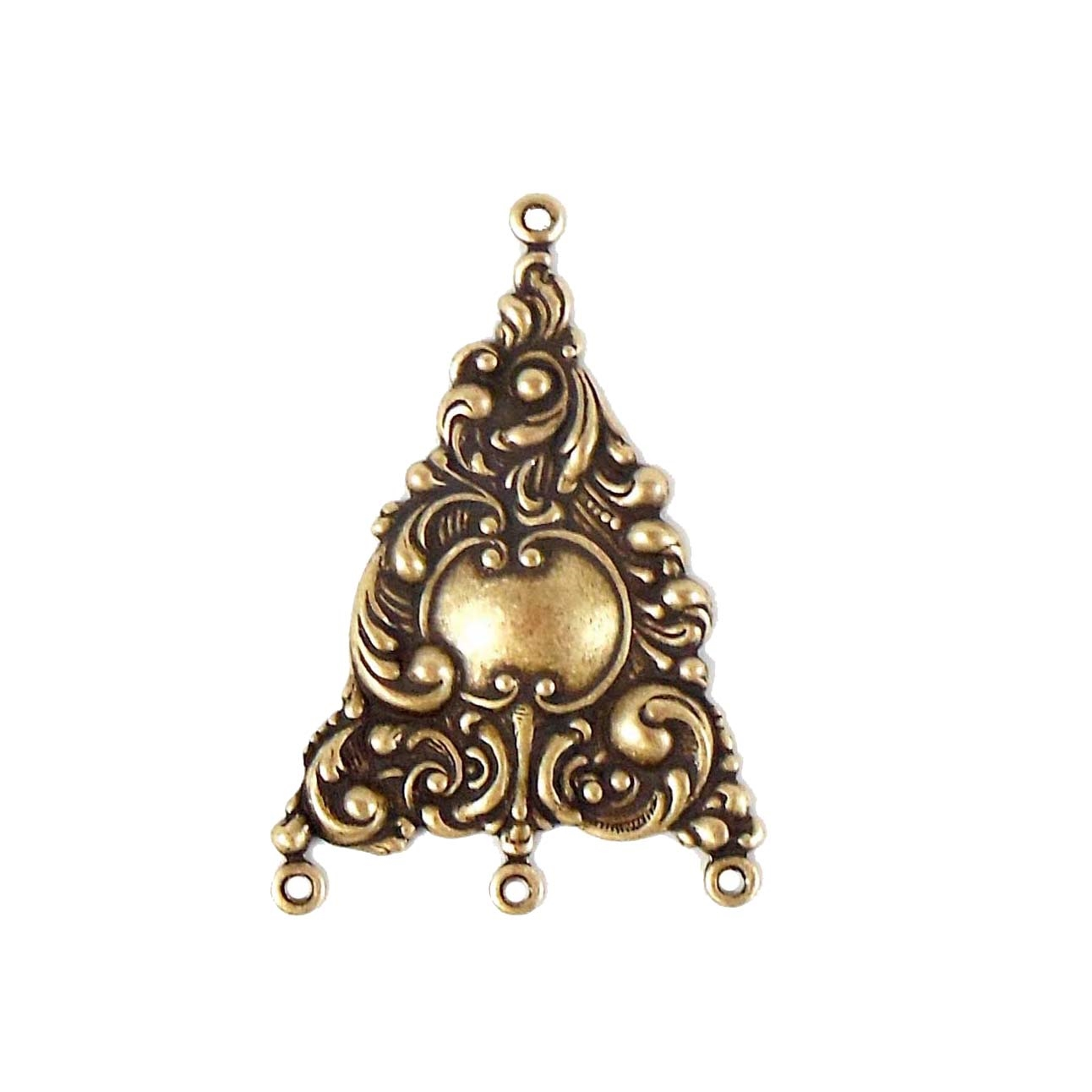 victorian gypsy ear drops, brass ox, antique brass, brass, brass stamping, ear drops, pendant, earrings, floral, victorian ,gypsy, us made, nickel free, 31x25mm, jewelry supplies, vintage supplies, jewelry findings, leafy motif, jewelry making, 04748