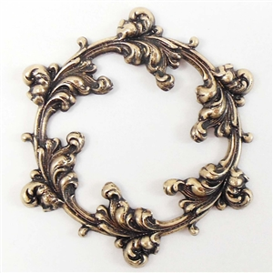 brass wreath, jewelry making, brass ox, 51mm