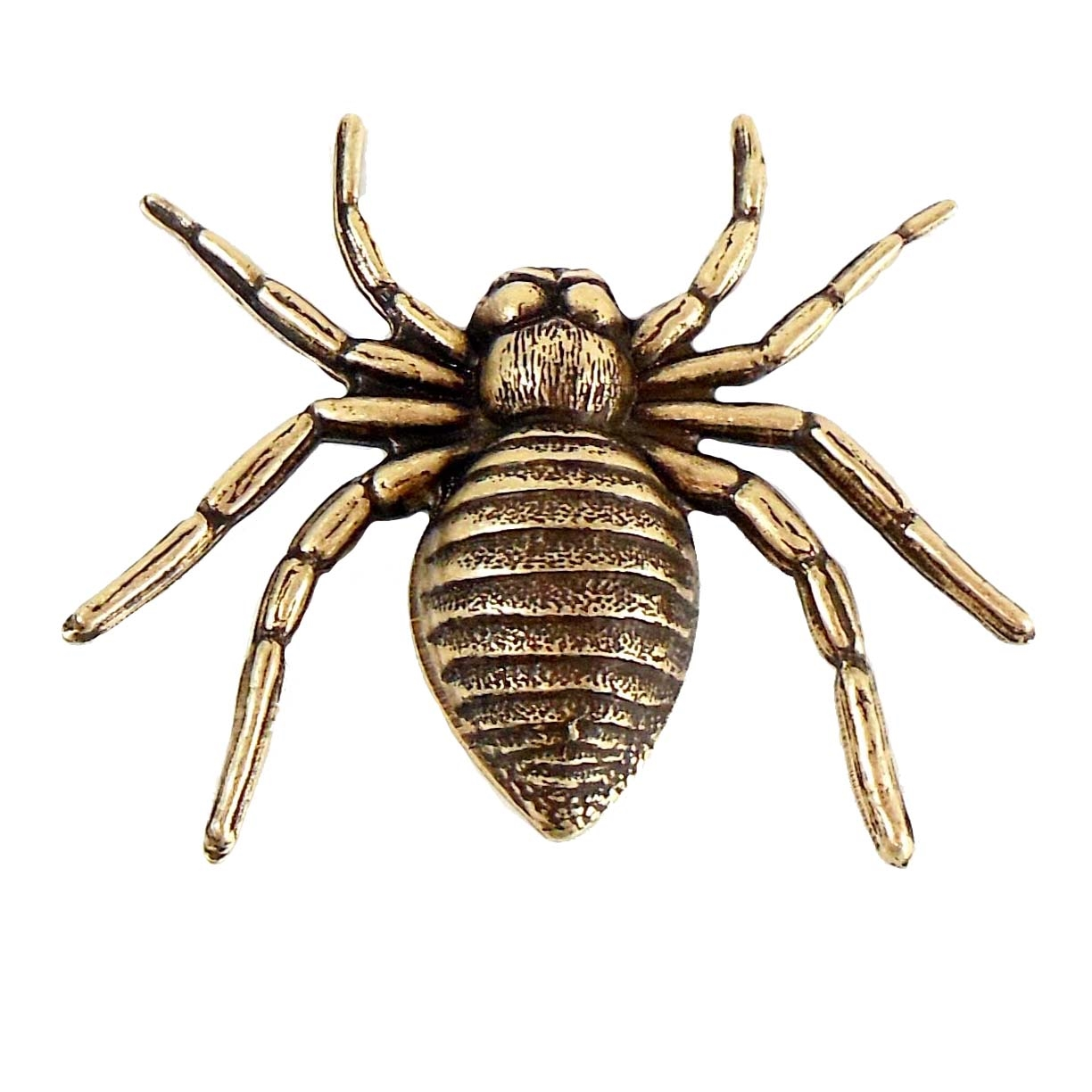 brass spider, jewelry making, brass ox, 33x42mm