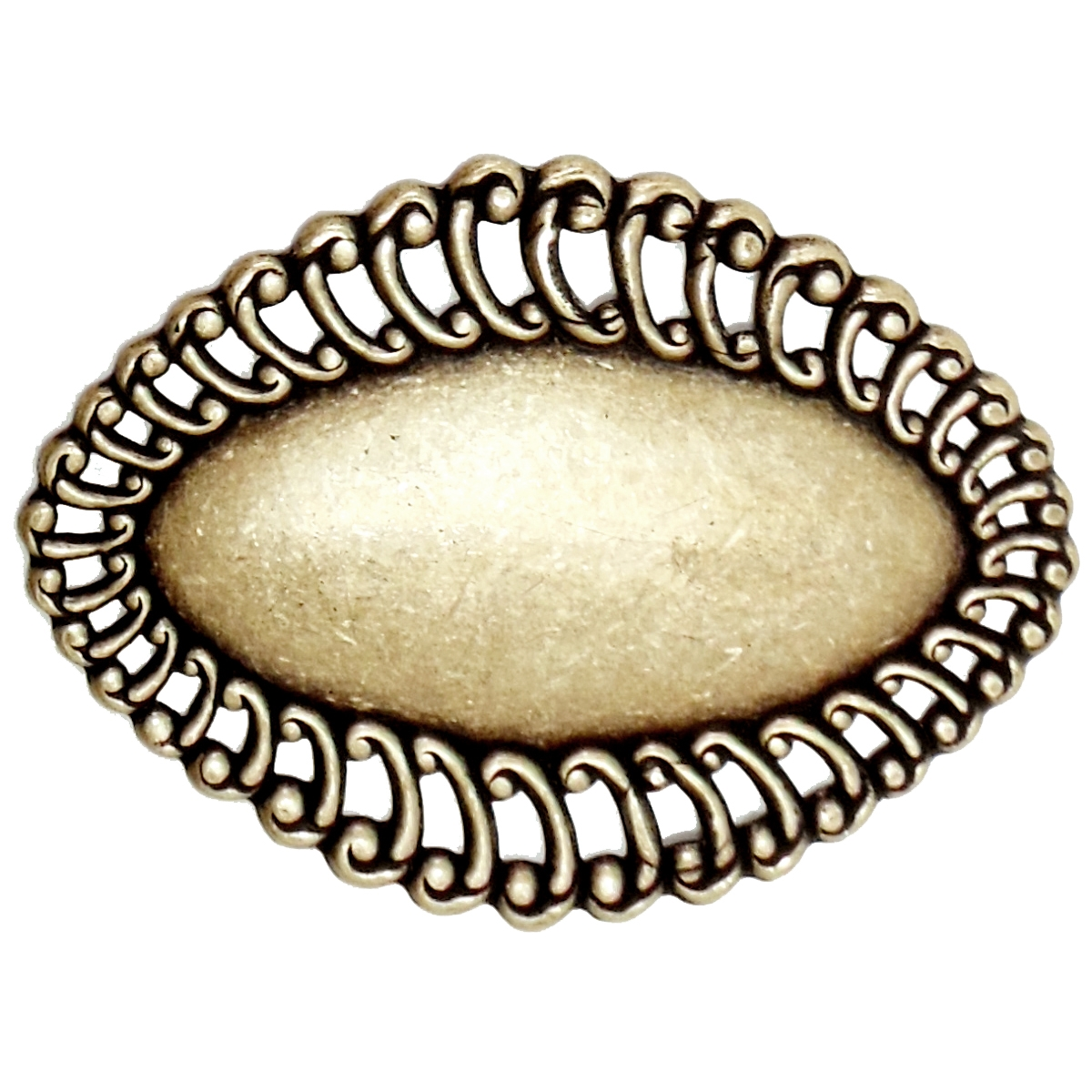brass stampings, looped base, oval base, brass ox, antique brass, jewelry making supplies, vintage jewelry supplies, nickel free, US made, bsueboutiques, 04983