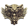 brass tiger, jungle jewelry, antique brass, 54x66m