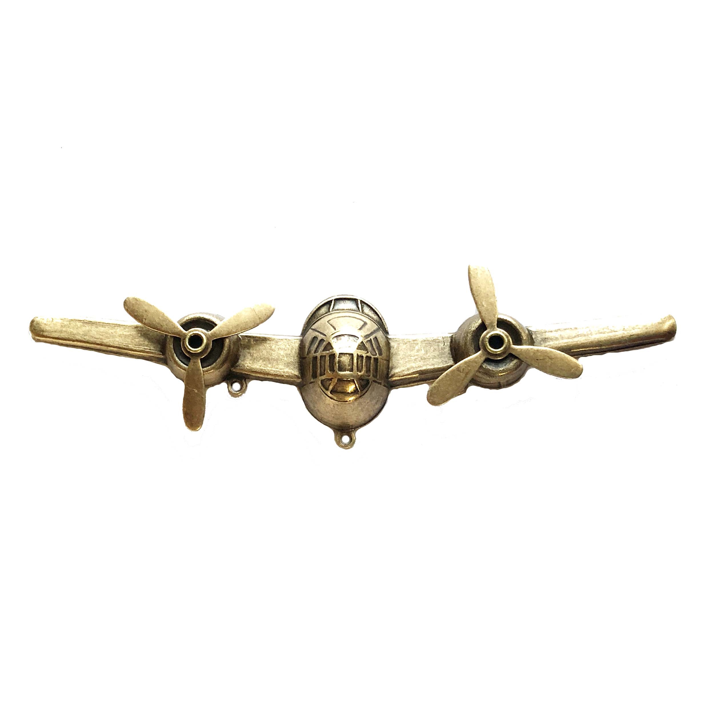 airplane stampings, propellers, brass ox, 0561, brass stampings, brass propellers, steampunk art, US made, nickel free jewelry supplies, bsueboutiques, jewelry making supplies, antique brass