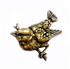 brass birds, bird jewelry, jewelry supplies, 05726, jewelry making, brass ox, antique brass, bird on a branch, charm, embellishment, animal, nature, brass stamping, stamping, bird stamping
