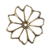 brass flower, drilled flower, jewelry making, 05731, brass ox, jewelry supplies, bsue boutiques, vintage stamping, vintage, flower, brass ox flower, openwork flower, 36mm, pinwheel