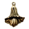 lily drop, lily of the valley, brass ox, 05733,  brass flowers, B'sue Boutiques, antique brass, US made jewelry supplies, vintage jewelry supplies, nickel free jewelry supplies, flower findings, charm, pendant, floral charm, floral pendant, flower