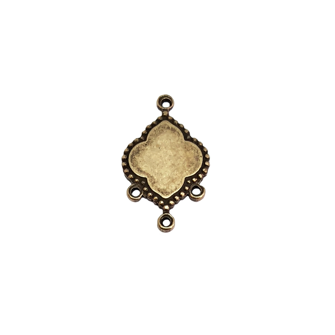gypsy drop, brass ox, antique brass, drop, charm, earring drop, centerpiece drop, flower drop, blank center, centerpiece, earring drops, 20x13mm, jewelry making, jewelry supplies, B'sue Boutiques, US-made, nickel-free, jewelry drop, 05971