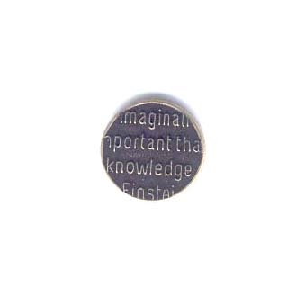 Brass Button Top, Word Power, Brass Ox, 15mm