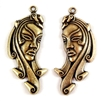 exotic lady, brass stampings, right and left pairs