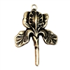 brass iris drop, brass flowers, brass charms, 06403, brass ox, black antiquing, US made jewelry supplies, vintage jewelry supplies, bsueboutiques, antique bass, jewelry making, brass jewelry parts