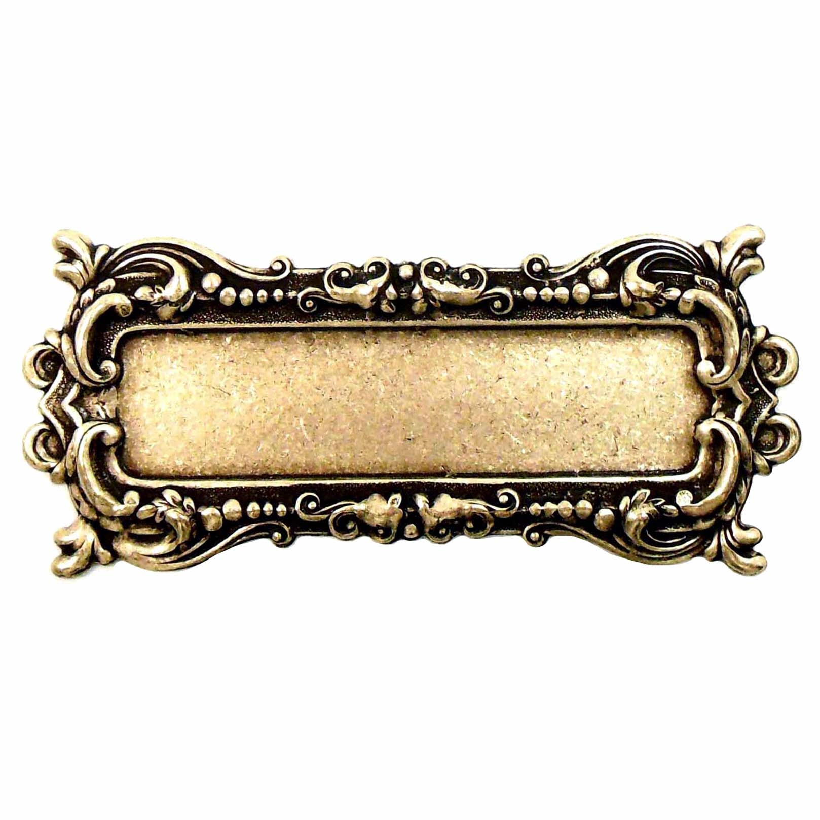 picture frame, frame, brass ox, leafy motif, brass stamping, motif, us made, Victorian, B'sue Boutiques, brass mount, antique brass, brass bezel, Victorian style, nickel free, jewelry making, vintage supplies, jewelry supplies, jewelry findings, 06534