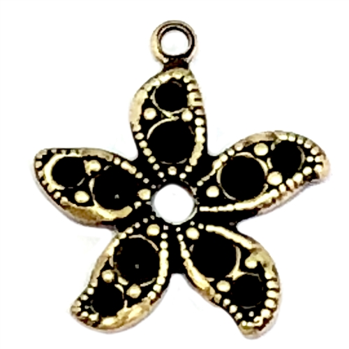 Brass starfish drop, Brass Ox, black antiquing, earring drop, Victorian style, Brass Stamping, Us Made. Nickel Free, B'sue Boutiques, Jewelry Supplies, Jewelry Parts, Jewelry Making, 06575, jewelry findings