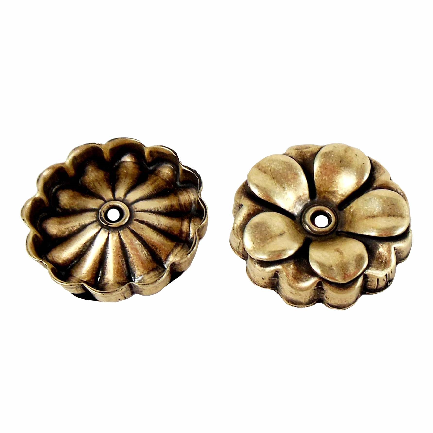 brass flower, riveted flowers,jewelry supplies,ab