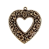 brass hearts, heart charms, jewelry making, 06790, B'sue Boutiques, nickel free, US made, jewelry making, jewelry supplies, vintage jewelry supplies, open heart stamping, heart pendants, floral heart charms