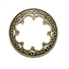 victorian wreath style, filigree, wreath, scalloped inside edge, delicate, 36mm, brass ox, antique brass, brass stamping, us made, nickel free, stamping, brass, jewelry making, jewelry findings, jewelry supplies, vintage supplies, 06796