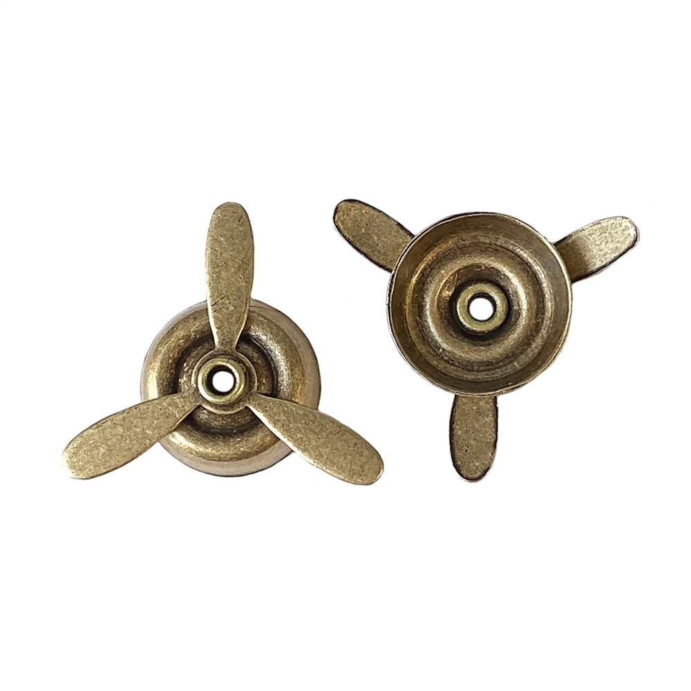 propeller, steam punk stamping, 0683, brass ox, antique brass, steam punk parts, propeller stamping, brass stamping, jewelry making, jewelry supplies, Bsue Boutiques, steam punk, airplane parts