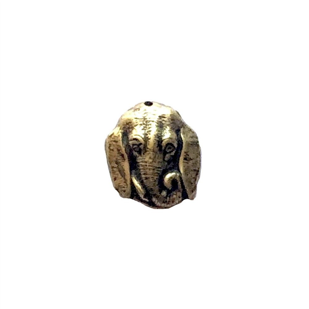 elephant head, brass ox, animal, zoo animal, elephant, head stamping, stamping, hollow back, 16 x 14mm, head, us made, nickel free, B'sue Boutiques, jewelry findings, vintage supplies, jewelry supplies, jewelry making, 06898