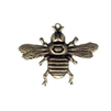 brass bee, bee with stone set, brass ox, 07234, US made, bee jewelry, nickel free, antique brass, black antiquing, bsueboutiques, jewelry making supplies, vintage jewelry supplies,