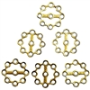 Steampunk, Brass Ox, Grid Sprocket, 18mm