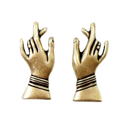 right and left hands, brass ox, antique brass, hand pairs, US made, hands, stamping, nickel free, 28x12mm, jewelry making, jewelry supplies, jewelry making, hand stampings, jewelry findings, Bsue Boutiques, 08320