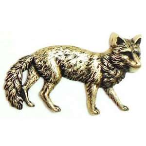 Brass Stampings, Fox Stampings, Brass Ox, 27 x 45mm